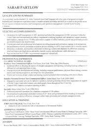 good resume profile examples