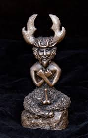 God Statue The Horned God Statue Pagan God Of Hunting Sexuality And