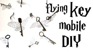 diy flying key mobile harry potter tutorial from the first