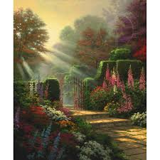 garden of eden flower shop pools of serenity u2013 limited edition art the thomas kinkade company