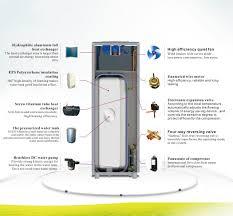 low volume water pump air source heat pump 8kw268l durable air source household integral