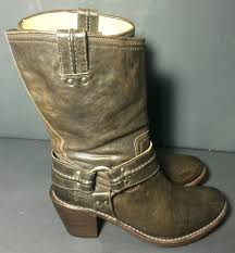 motorcycle harness boots frye 77372 carmen harness short leather riding biker motorcycle