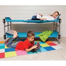 Portable Bunk Beds The Foldaway Childrens Bunk Beds Hammacher Schlemmer