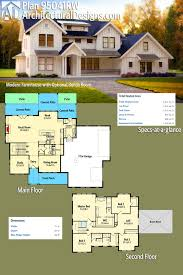 plan 95041rw modern farmhouse with optional bonus room