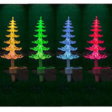 solar christmas lights solar powered colour changing christmas tree with lights