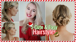 super cute christmas morning hairstyles youtube