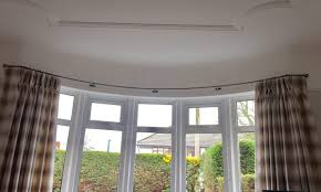 curved curtain pole for bay window glif org