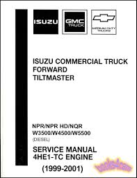 isuzu npr shop manual diesel service repair book 4he1 tc hd nqr