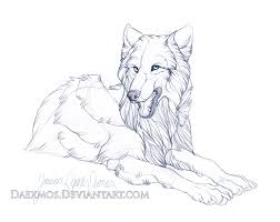 casual wolf sketch by daexmos on deviantart