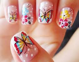 cute nail designs for spring butterfly animal prints spring color