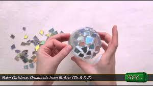 make christmas ornaments from broken cds u0026 dvd youtube