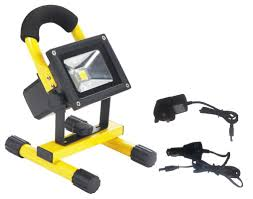 10w Rechargeable Led Flood Light With Wall And Car Chargers Buy