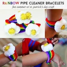 s day bracelet rainbow pipe cleaner bracelets arts crafts best of