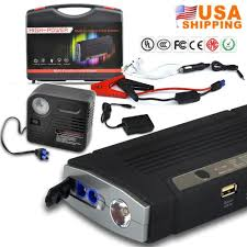 high power jump starter car battery charger 12v 68800mah 150psi