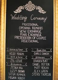 chalkboard wedding programs chalkboard ceremony program archives southern weddings