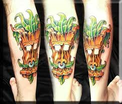 swamp scene tattoo by artist greg couvillier at the studio