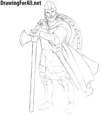 how to draw a realistic viking drawingforall net
