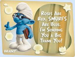 thank you e card the smurfs thank you ecard