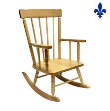 chaise berçante en bois pour enfants chaises poufs
