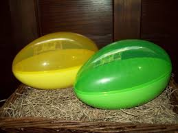large fillable easter eggs new set 2 large jumbo fillable easter egg plastic container holds