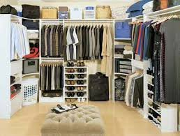 design walk in closet for master bedroom with white color theme