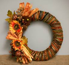 fall ribbon ben franklin crafts and frame shop make a fall wreath with sunflowers