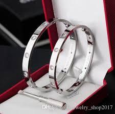 titanium steel love bracelet images Tennis online sale titanium steel love bracelets silver rose gold jpg