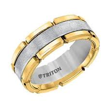 two tone wedding bands two tone tungsten wedding band diamonds