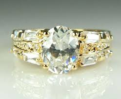 real crystal rings images Real diamond rings for cheap couple fashion rings set 2 stylish jpg