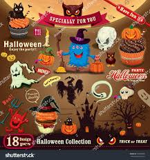 vintage halloween poster design set stock vector 220098898