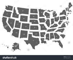 Usa Maps States by Vector Usa Map All States Separate Stock Vector 23938606