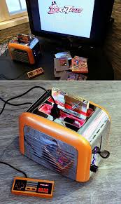 Toaster Nintendo This Looks Like A Toaster But Insert An Nes Cartridge It Becomes