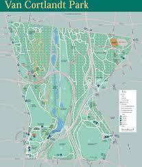 Bronx Bus Map Van Cortlandt Park Trail Map Van Cortlandt Park Bronx New York