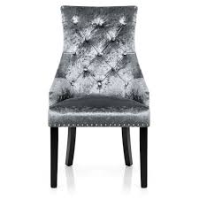 Dining Chair Ascot Dining Chair Grey Velvet Atlantic Shopping