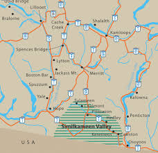 bc map map find your way to the similkameen valley