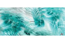 mural feathers in turquoise wallpapers mural feathers in turquoise