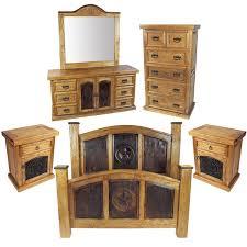 Mexican Rustic Bedroom Furniture Rustic Pine Texas Lone Star 5 Piece Bedroom Set