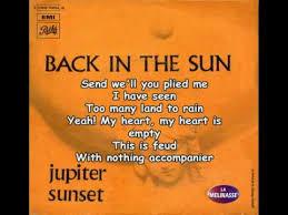 jupiter sunset back in the sun