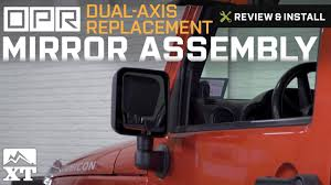 jeep wrangler blind spot mirror jeep wrangler opr dual axis replacement mirror assembly 2007 2017