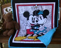 Mickey And Minnie Crib Bedding Disney Bedding Etsy
