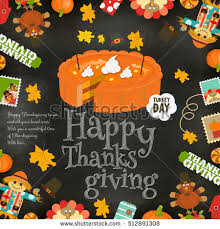 thanksgiving day card frame pumpkin stock vector 512891308