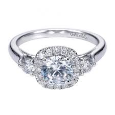 circle engagement ring with halo 1 11cttw 3 engagement ring with center halo