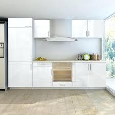 meuble de cuisine blanc brillant meuble cuisine frigo armoire de cuisine blanc brillant 7 pcs pour