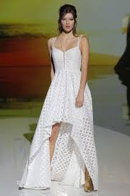 high low wedding dress 20 high low wedding dresses from bridal fashion week brides