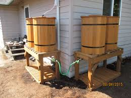 our latest quad rain barrel system two double barrel systems