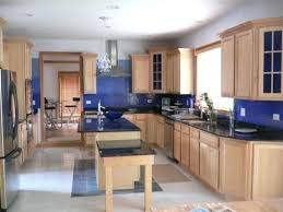 kitchen paint colors with oak cabinets and black countertops color