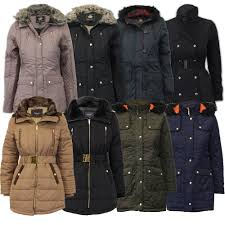 la s parka jacket womens brave soul coat padded hooded fur belt