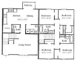 1 Bedroom Cottage Floor Plans Floor Plan For A Four Bedroom House Home Design