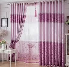 Purple Room Darkening Curtains Thick Poly Cotton Floral Pattern Decorative Purple Room Darkening