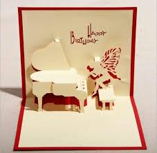 card invitation design ideas 130mm 160mm piano greeting cards